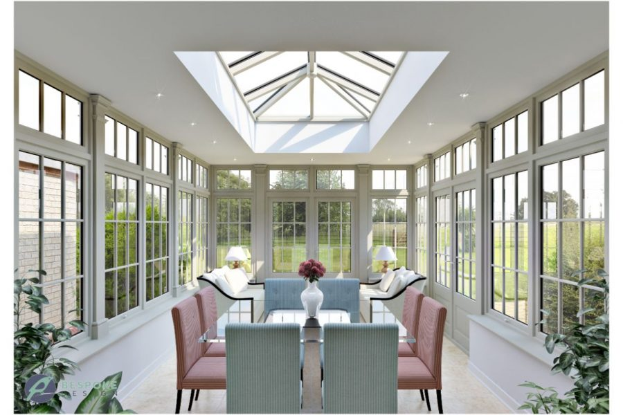 Traditional Orangery Whiting interior